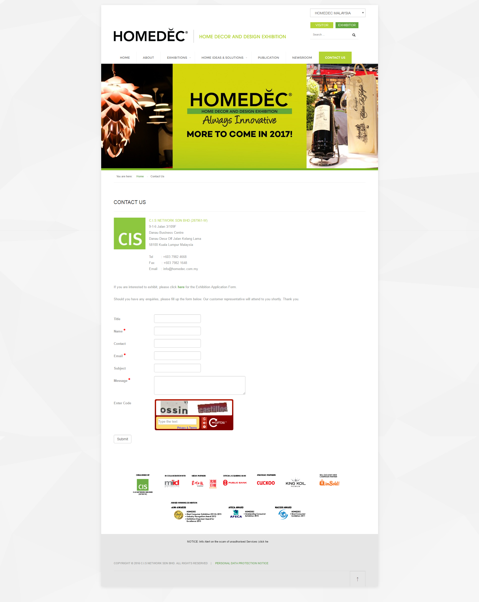 HOMEDEC Contact Us