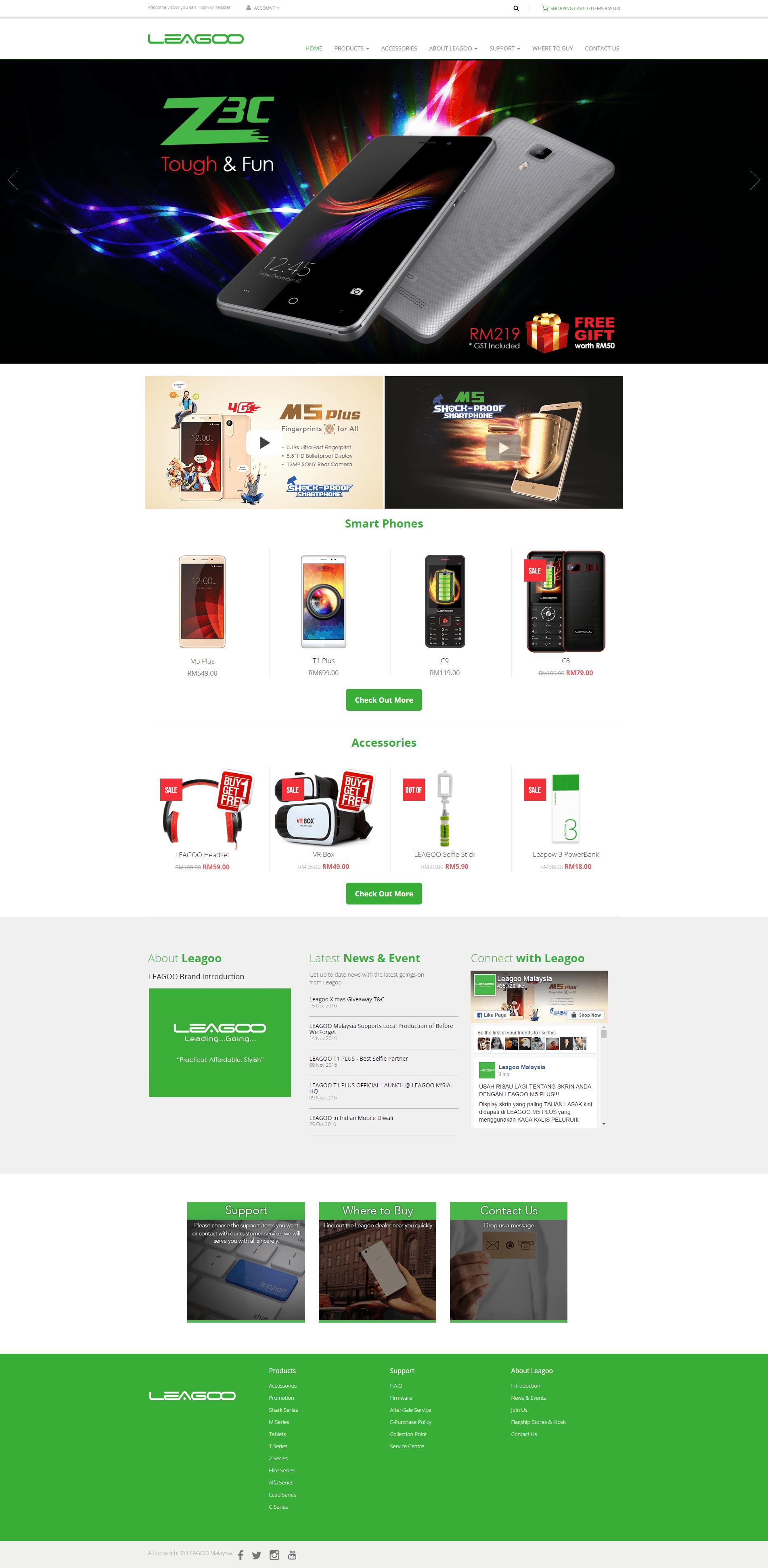 LEAGOO Smart Phone Malaysia homepage-min