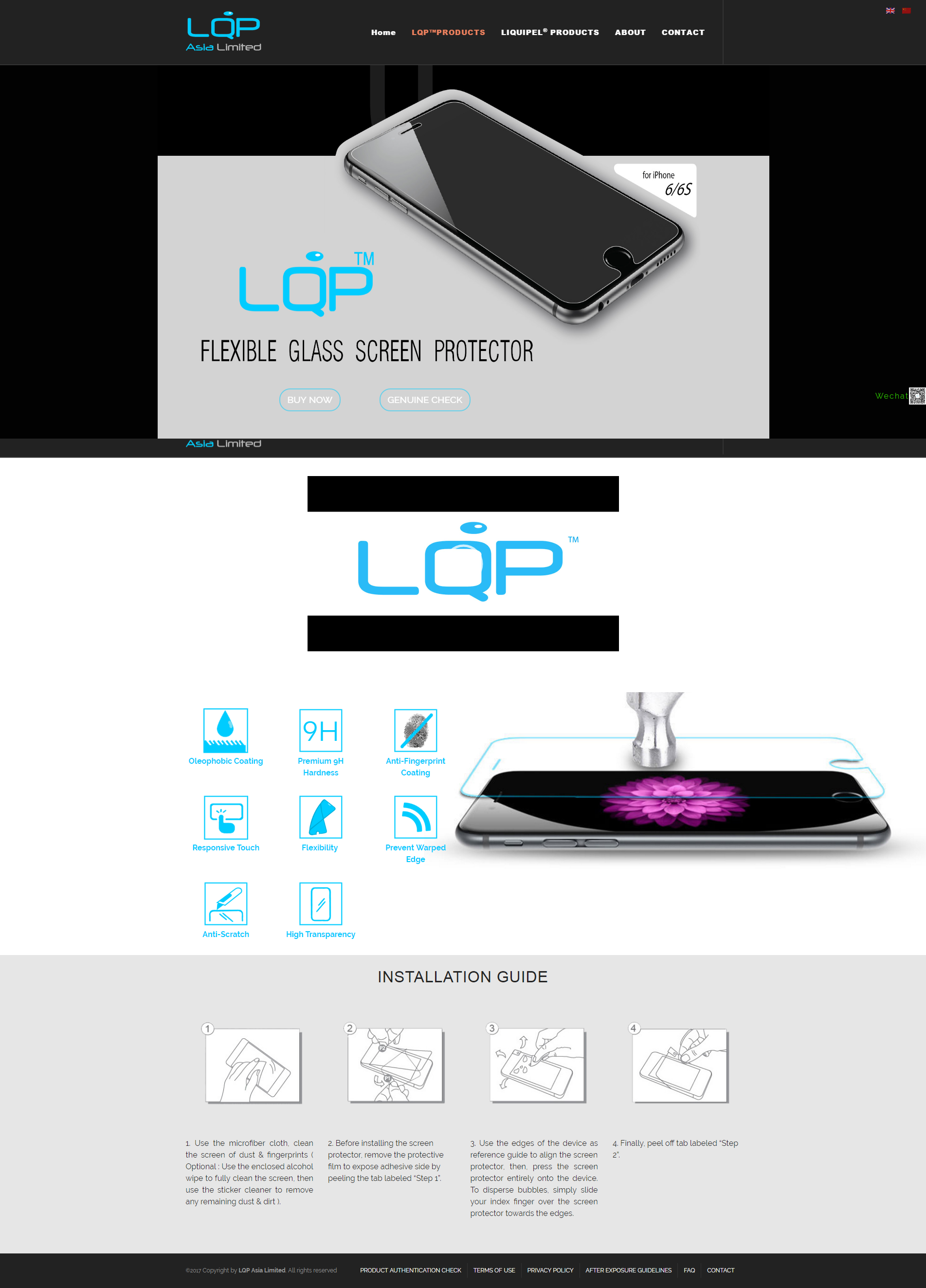 LQP™ Flexible Glass Screen Protector Film Liquipel