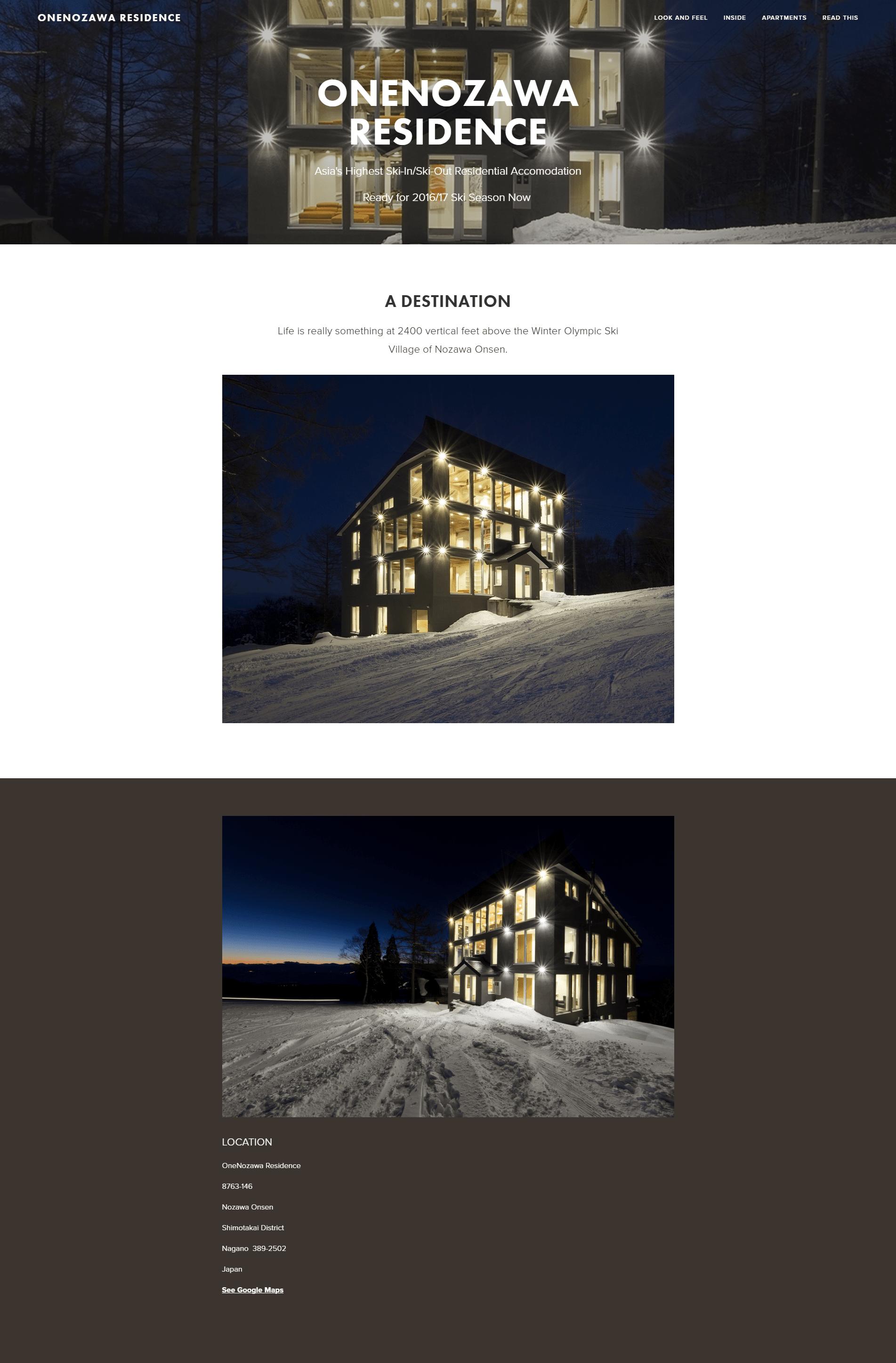 OneNozawa Residence homepage-min