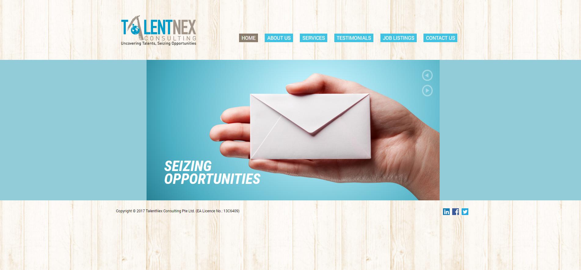 Talentnex homepage
